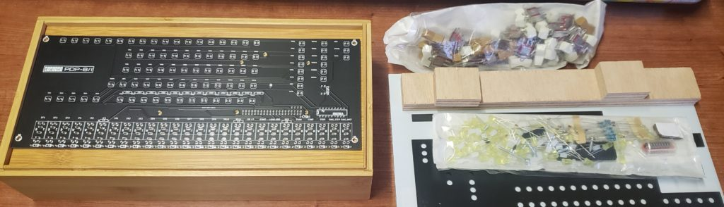 Unboxed PiDP8 Kit